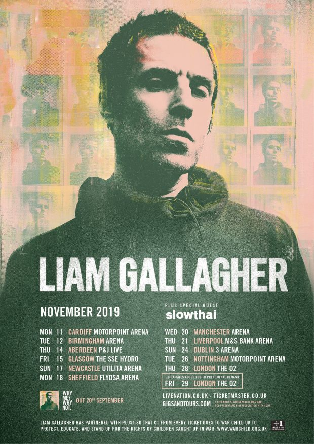 Liam Gallagher Expands Huge UK Tour