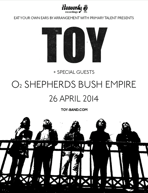 TOY Announce UK Tour for 2014