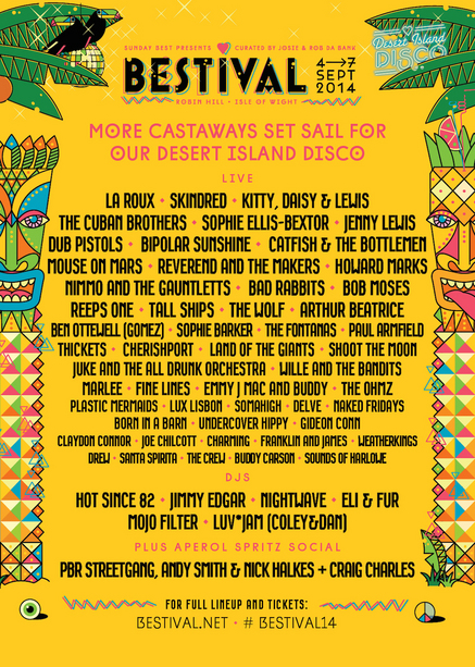 New Acts Announced For Bestival