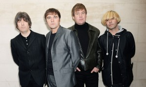 LONDON, ENGLAND - OCTOBER 22: Tim Burgess (R) and The Charlatans attend the Xperia Access Q Awards at The Grosvenor House Hotel on October 22, 2014 in London, England. (Photo by Dave J Hogan/Getty Images)