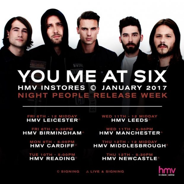You Me At Six To Sign New Album Tour